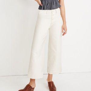 Madewell Emmett Wide Leg Crop Jean Button Front 30